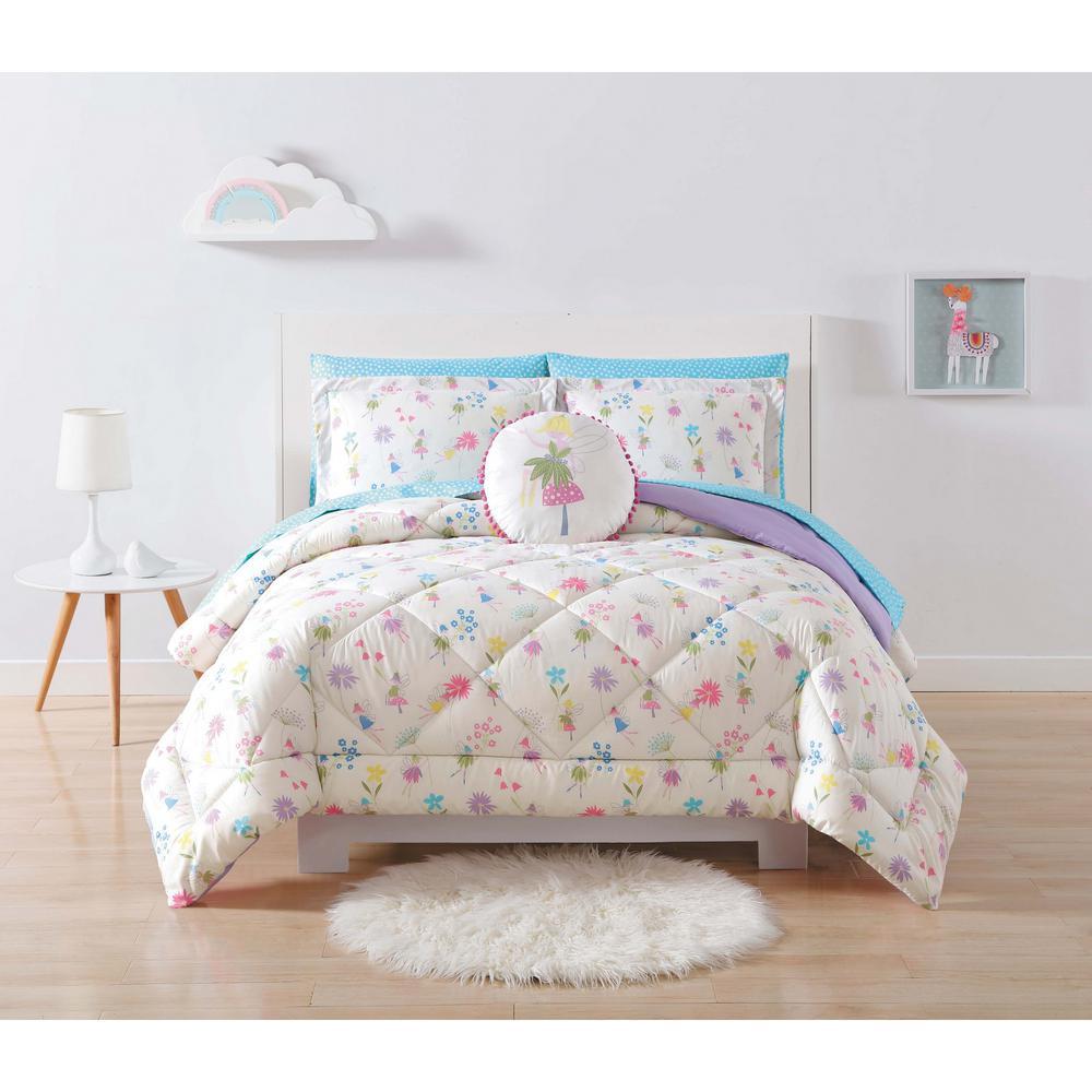 Kids Garden Fairies Multi Twin XL Comforter Set