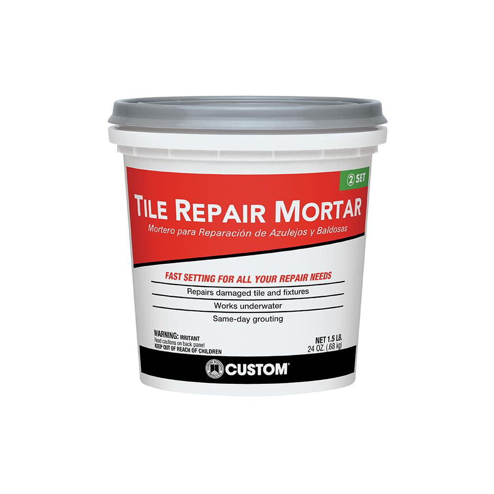 Custom Building Products 1.5 lb. White Tile Repair Mortar-TRMW1 ...