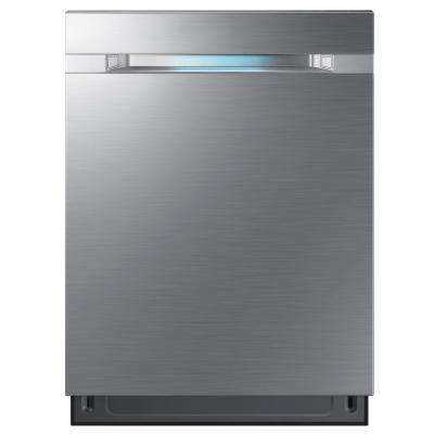 24 in. Top Control Dishwasher Tall Tub Dishwasher in Stainless Steel with 2X Zone Booster and AutoRelease Door