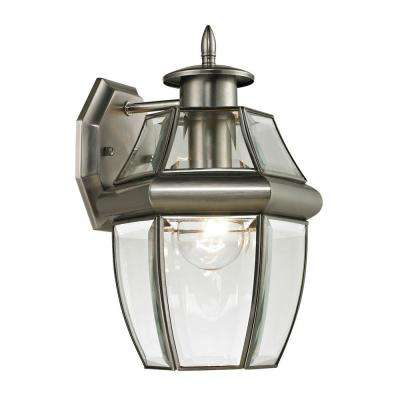 Ashford 1-Light Outdoor Brushed Nickel Sconce