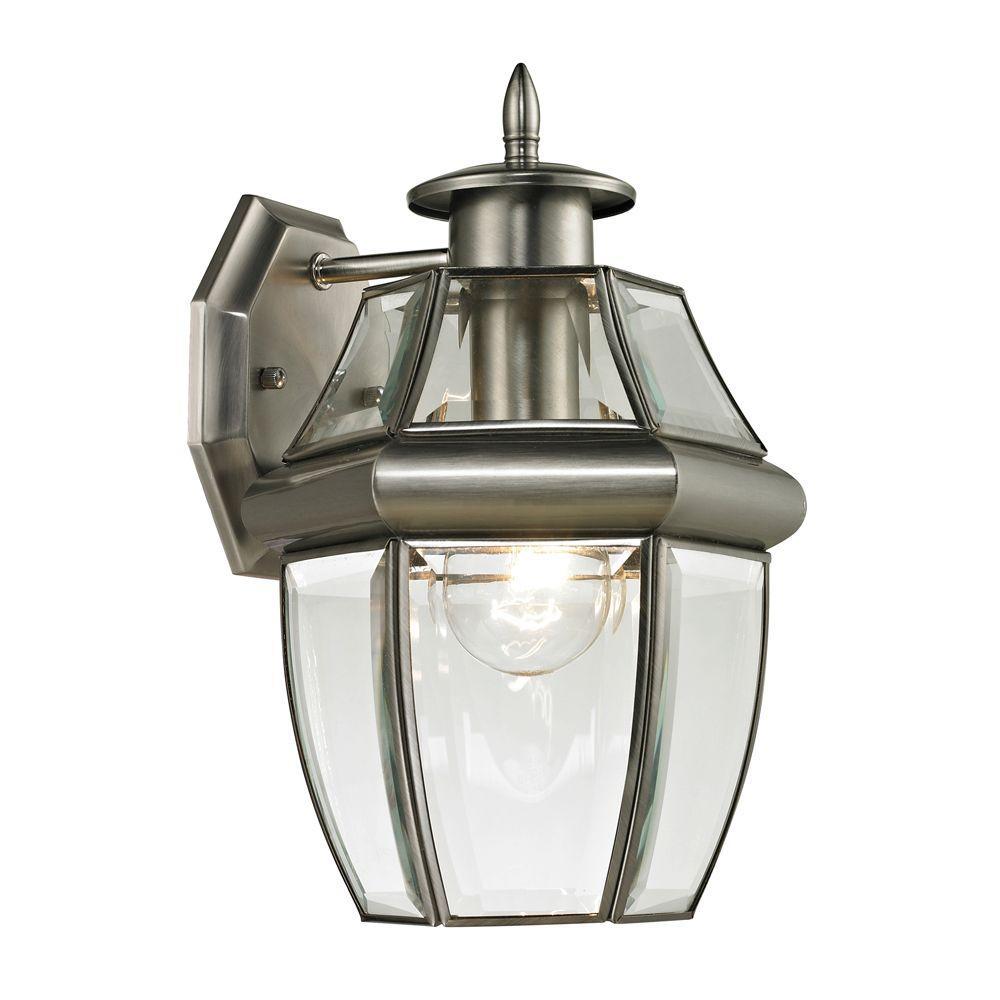Ashford 1 Light Outdoor Brushed Nickel Sconce