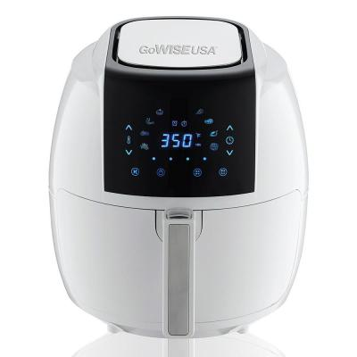 8-in-1 5.8 Qt. Touch Screen White Air Fryer with Recipe Book