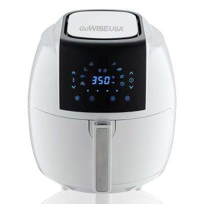 5.8 Qt. 8-in-1 Touch Screen White Air Fryer with Recipe Book