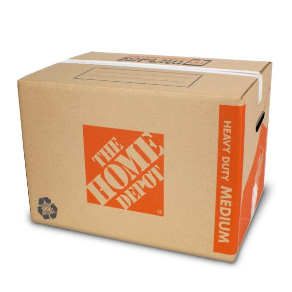 Heavy-Duty Medium Moving Box with Handles (22 in. L x 16 in. W x 15 in. D)