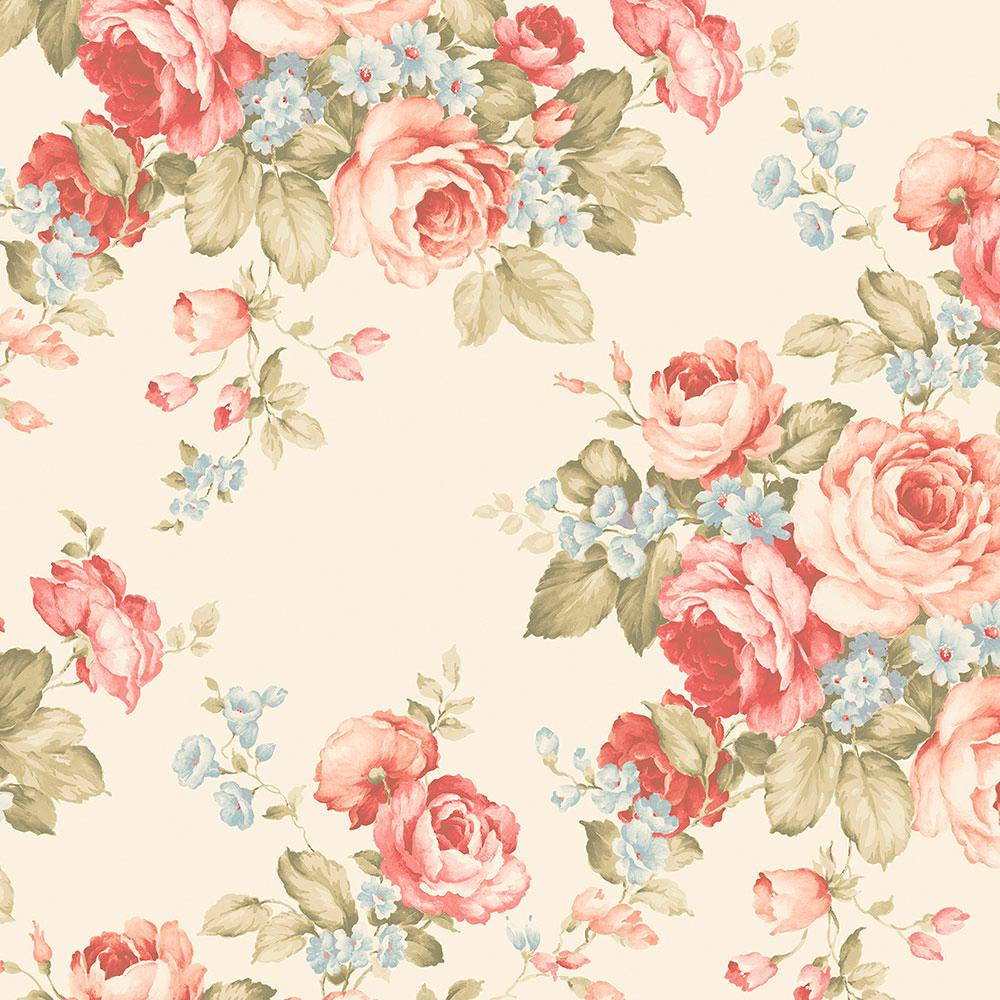 Norwall grand floral wallpaper ab27614 the home depot - Floral wallpaper home depot ...