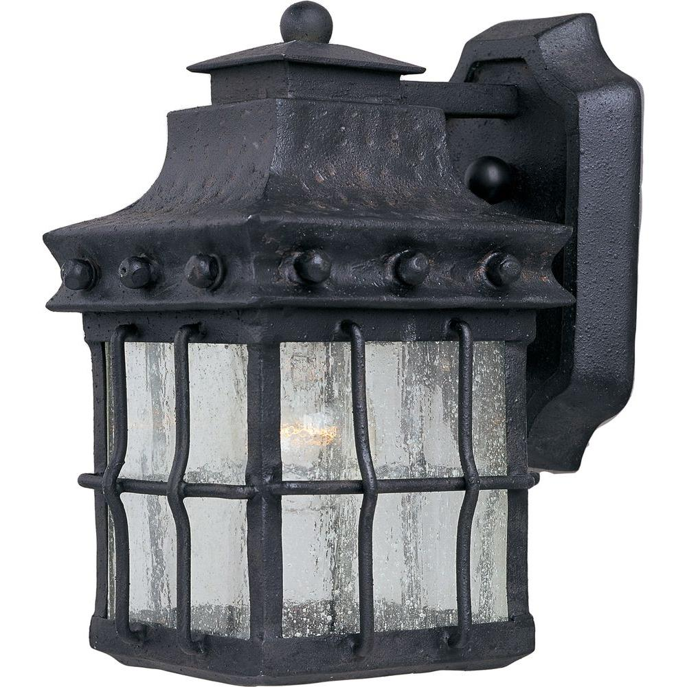 maxim lighting nantucket 1 light country forge outdoor wall mount