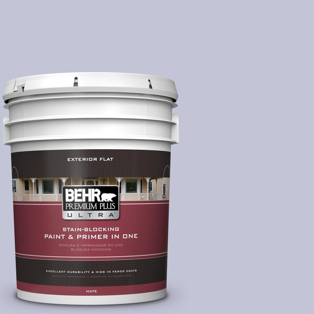 5-gal. #630E-3 Grape Lavender Flat Exterior Paint