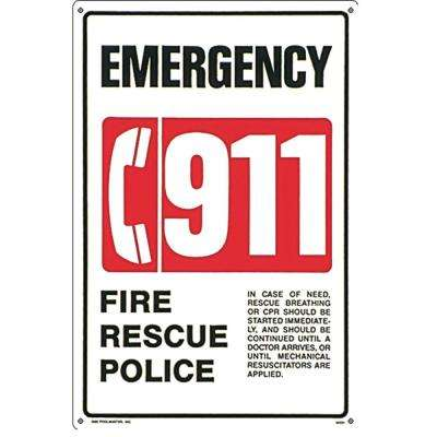 Residential or Commercial Swimming Pool and Spa Signs, 911 Emergency