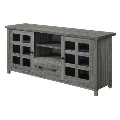 Newport Park Lane 58.75 in. Weathered Gray TV Stand with 1 Drawer Fits up to a 65 in. TV with Cabinet Doors