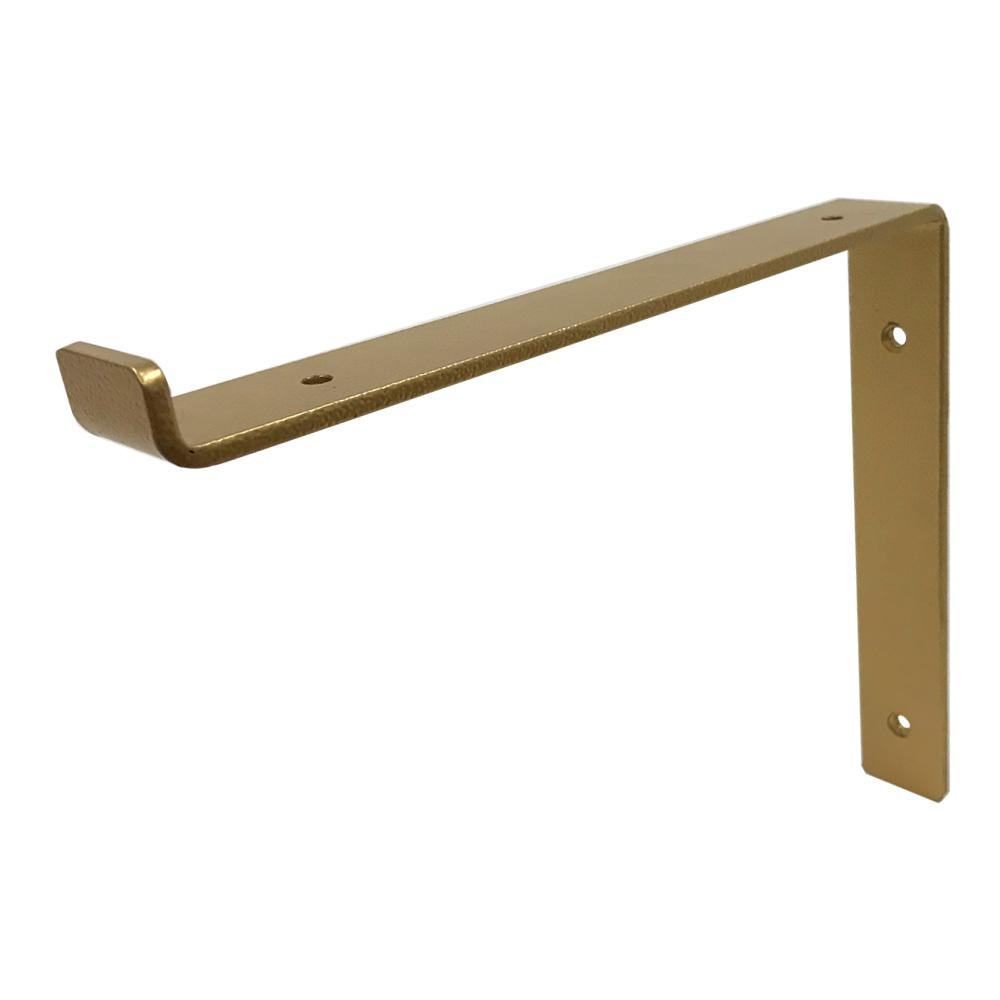 Crates & Pallet 12 in. Gold Forged Steel Shelf Bracket