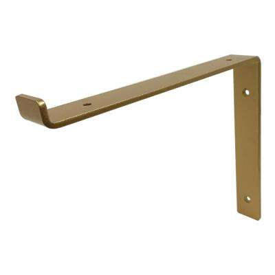 12 in. Gold Forged Steel Shelf Bracket