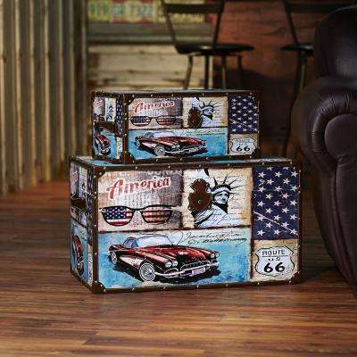Red White and Blue Trunk