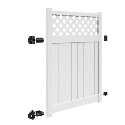 Valley 5 ft. W x 6 ft. H White Vinyl Un-Assembled Fence Gate