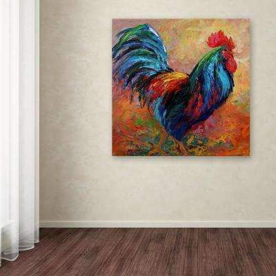 """35 in. x 35 in. """"Mr T Rooster"""" by Marion Rose Printed Canvas Wall Art"""