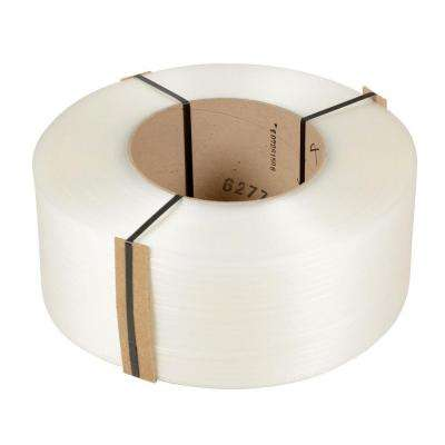 12,900 ft. Roll 9 in. x 8 in. Core Clear Poly Strapping