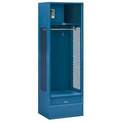 70000 Series 24 in. W x 72 in. H x 18 in. D Open Access Metal Locker Unassembled in Blue