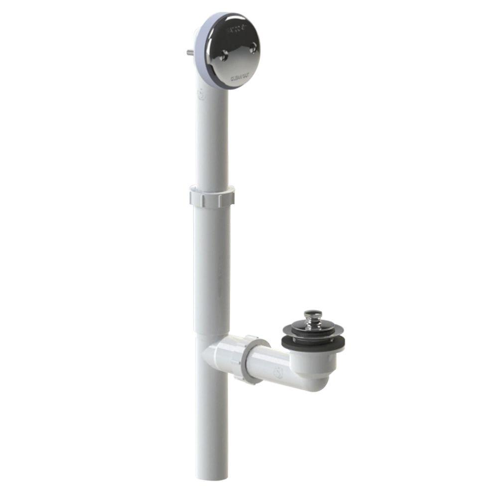 500 Series 16 in. Tubular Plastic Bath Waste - Push Pull