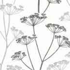 Brewster 56.4 sq. ft. Albury Black Brasilia Flower Wallpaper