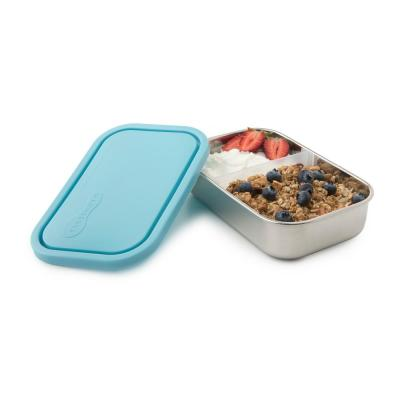 25 oz. Divided Rectangle Stainless Steel Container (Set of 2)