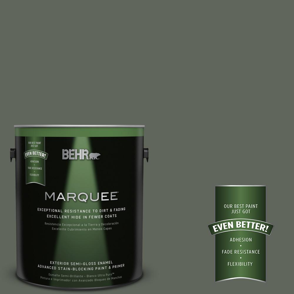 BEHR MARQUEE 1-gal. #710F-6 Painted Turtle Semi-Gloss Enamel Exterior Paint