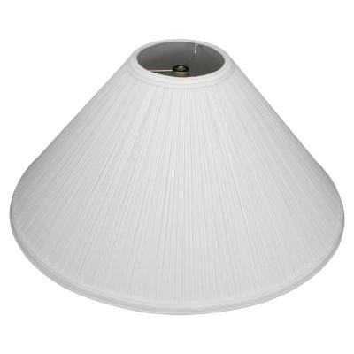 20 in. W x 9.25 in. H Pleated Mushroom White/Nickel Hardware Coolie Lamp Shade