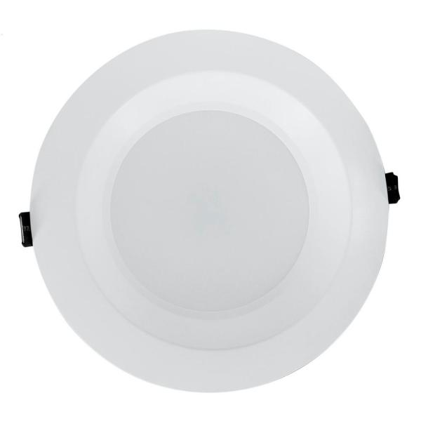 Housing-Free 8 in. White Integrated LED Recessed Downlight Kit in 3500K
