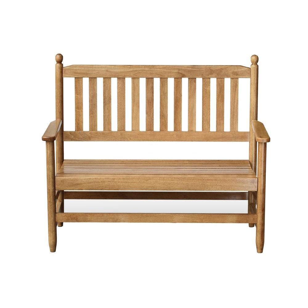 2 person maple wood outdoor patio bench 204bm rta the home depot 2 person maple wood outdoor patio bench sciox Gallery