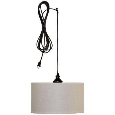 Carroll 1-Light Oil-Rubbed Bronze Swag Drum Pendant
