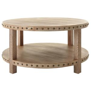 Superbe Home Decorators Collection Nailhead Light Washed Oak Coffee  Table 9927200970   The Home Depot