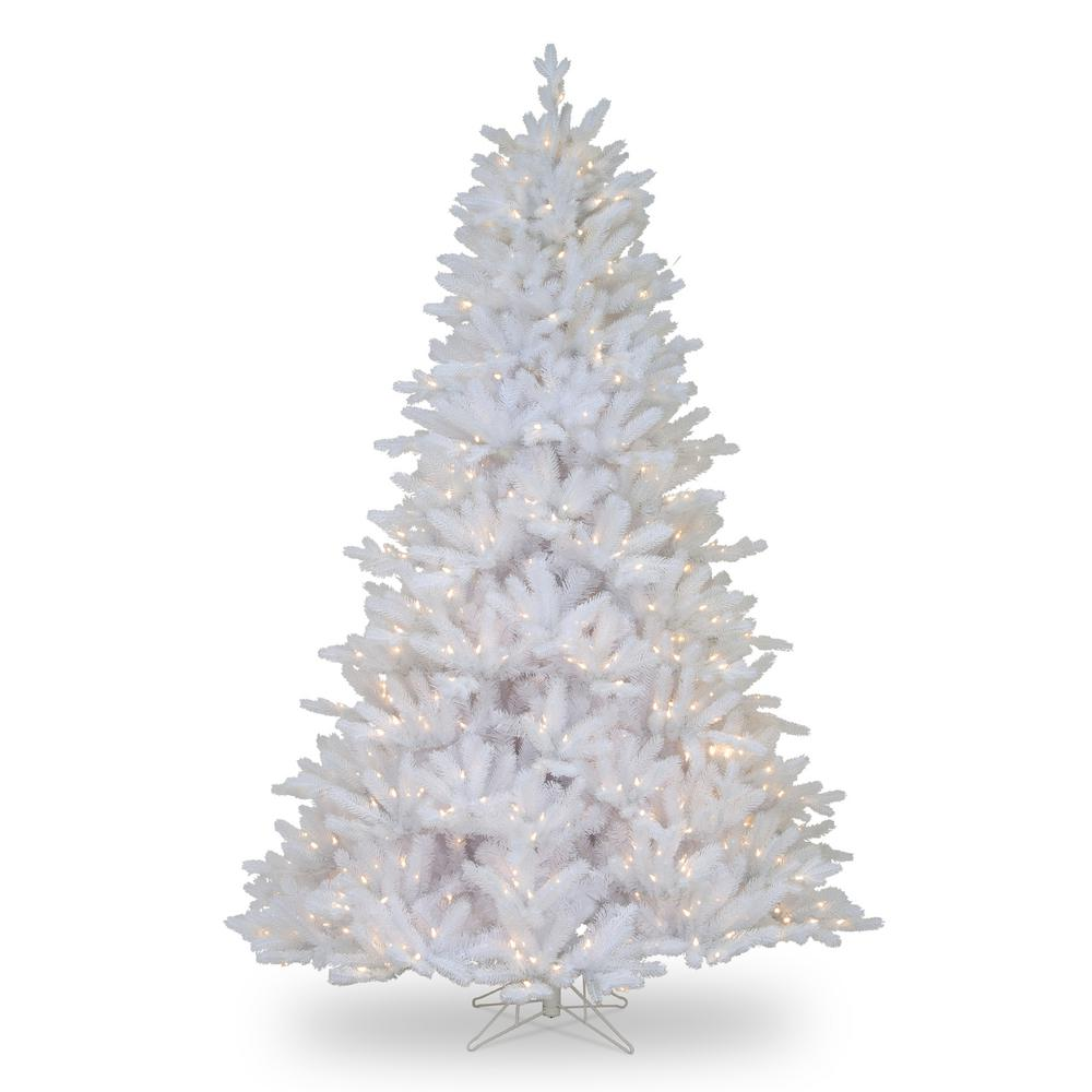 huge selection of ca4ed 835bc National Tree Company 7-1/2 ft. Feel Real Madison White Fir Hinged Tree  with 750 Clear Lights
