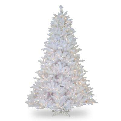 7-1/2 ft. Feel Real Madison White Fir Hinged Tree with 750 Clear Lights