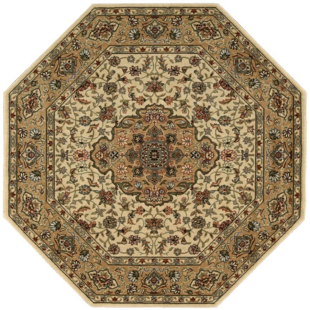 Nourison Persian Arts Ivory/Gold 7 ft. 9 in. Octagon Area Rug