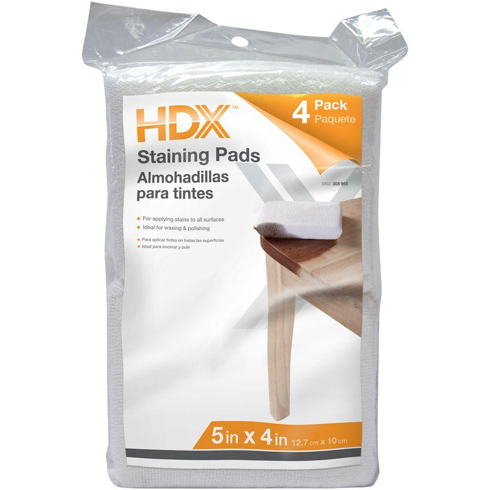 HDX Terry Staining Pads (4-Pack)