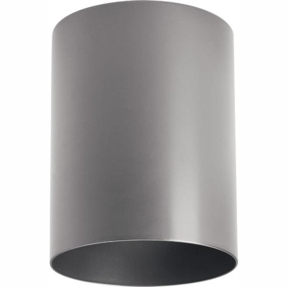 Metallic Gray Integrated LED Outdoor Flush Mount