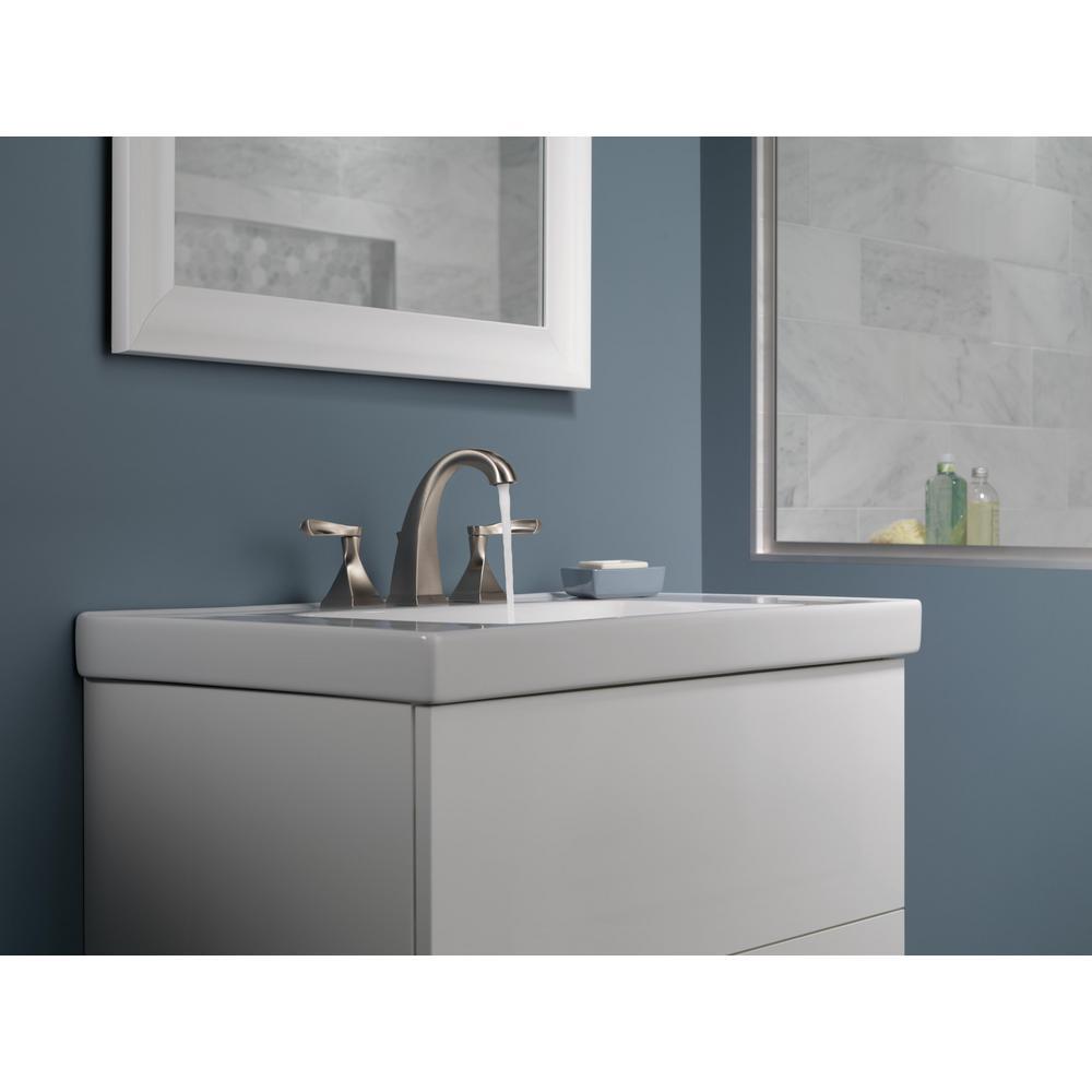 Everly 8 in. Widespread 2-Handle Bathroom Faucet in SpotShield Brushed Nickel