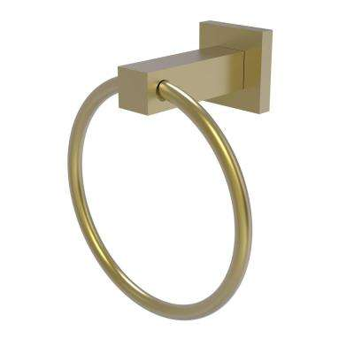 Montero Collection Towel Ring in Satin Brass