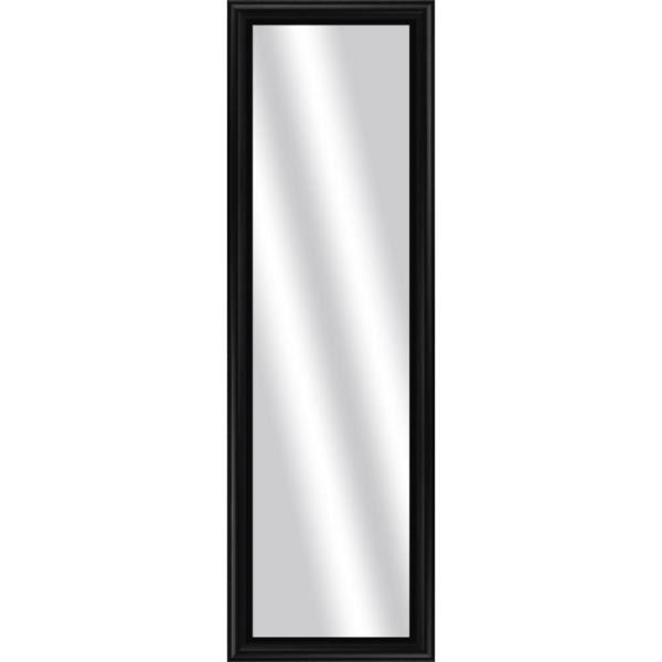 Large Rectangle Black Art Deco Mirror (53 in. H x 17 in. W)