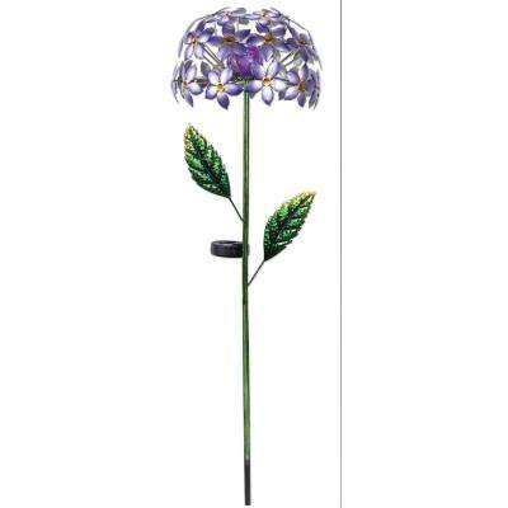 42 in. Solar Purple Hydrangea Stake