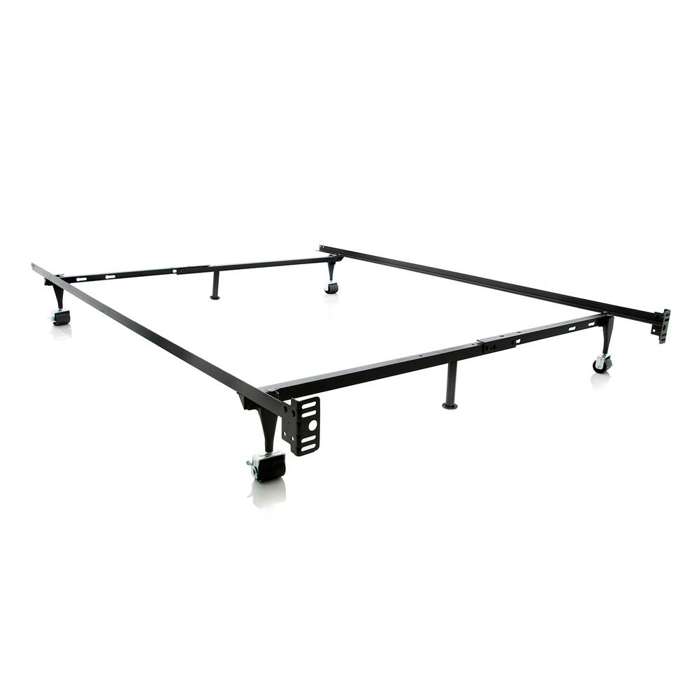 CastersWheels Bed Frame Adjustable Bedframe The Home Depot