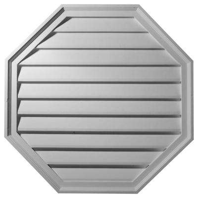 2-1/8 in. x 30 in. x 30 in. Decorative Octagon Gable Louver Vent