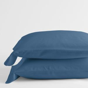 Velvet Flannel Coronet Blue Solid King Pillowcase (Set of 2)