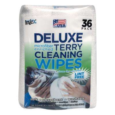 Deluxe Micro Enriched Terry Cleaning Wipes (36-Count)