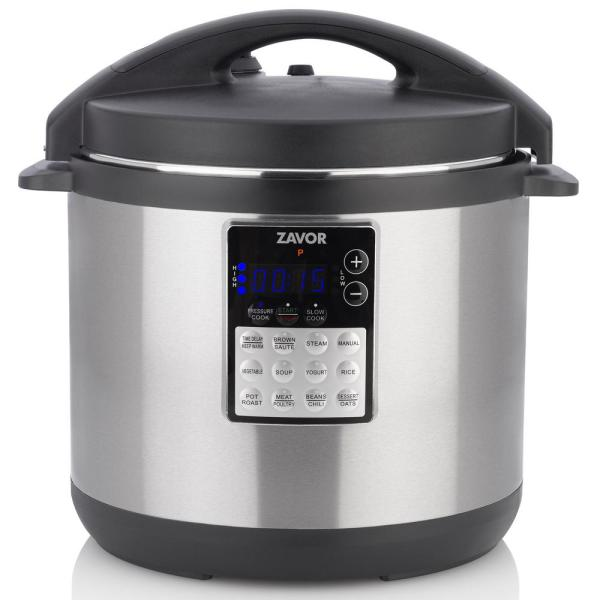 zavor lux edge 8 qt in stainless steel pressure cooker 124703 the rh homedepot com kitchen living pressure cooker parts kitchen living pressure cooker 43658