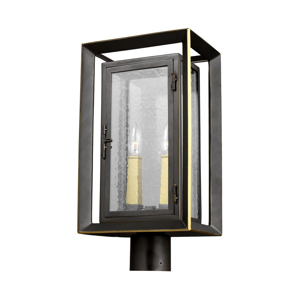 Feiss Urbandale 2-Light Outdoor Antique Bronze/Painted Burnished ...