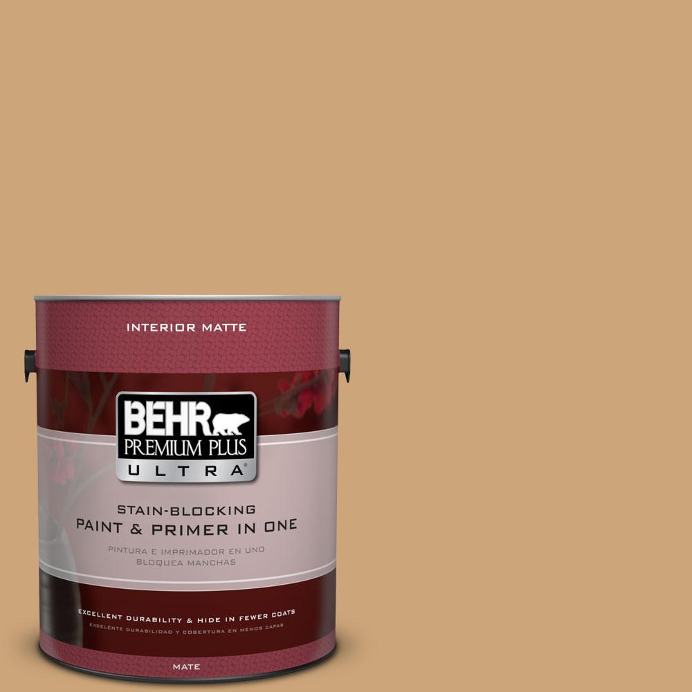 BEHR Premium Plus Ultra Home Decorators Collection 1 gal. #HDC-AC-13 Butter Nut Flat/Matte Interior Paint