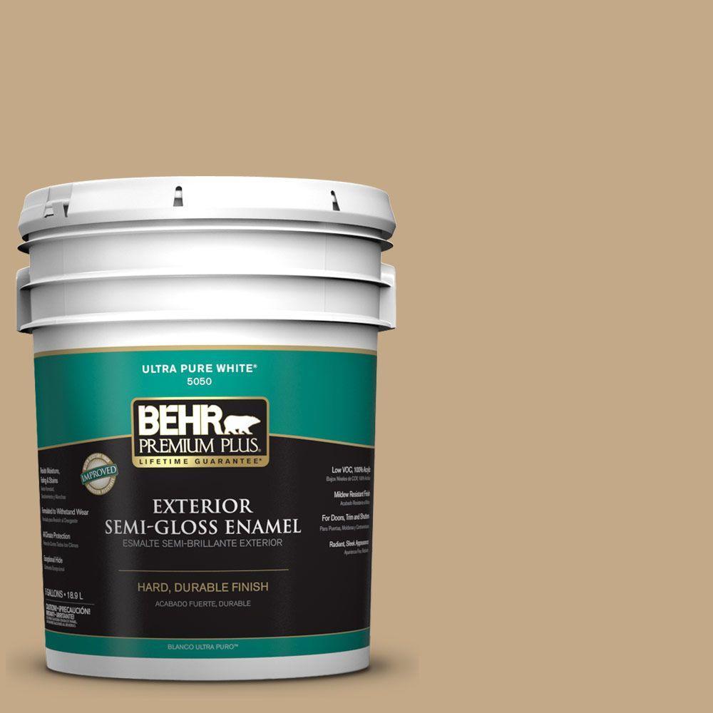 5-gal. #ICC-61 Toasted Grain Semi-Gloss Enamel Exterior Paint