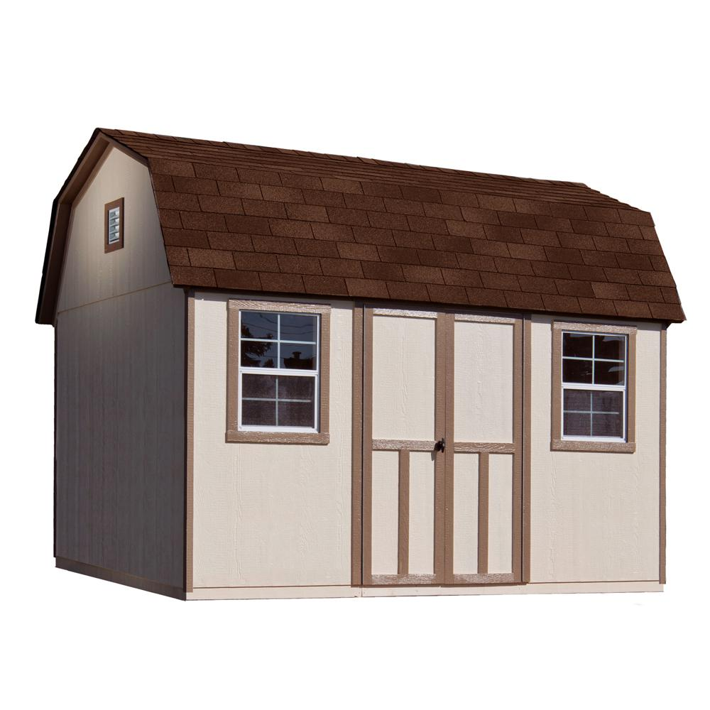 12 ft. x 8 ft. Installed Briarwood Deluxe Wood Storage with