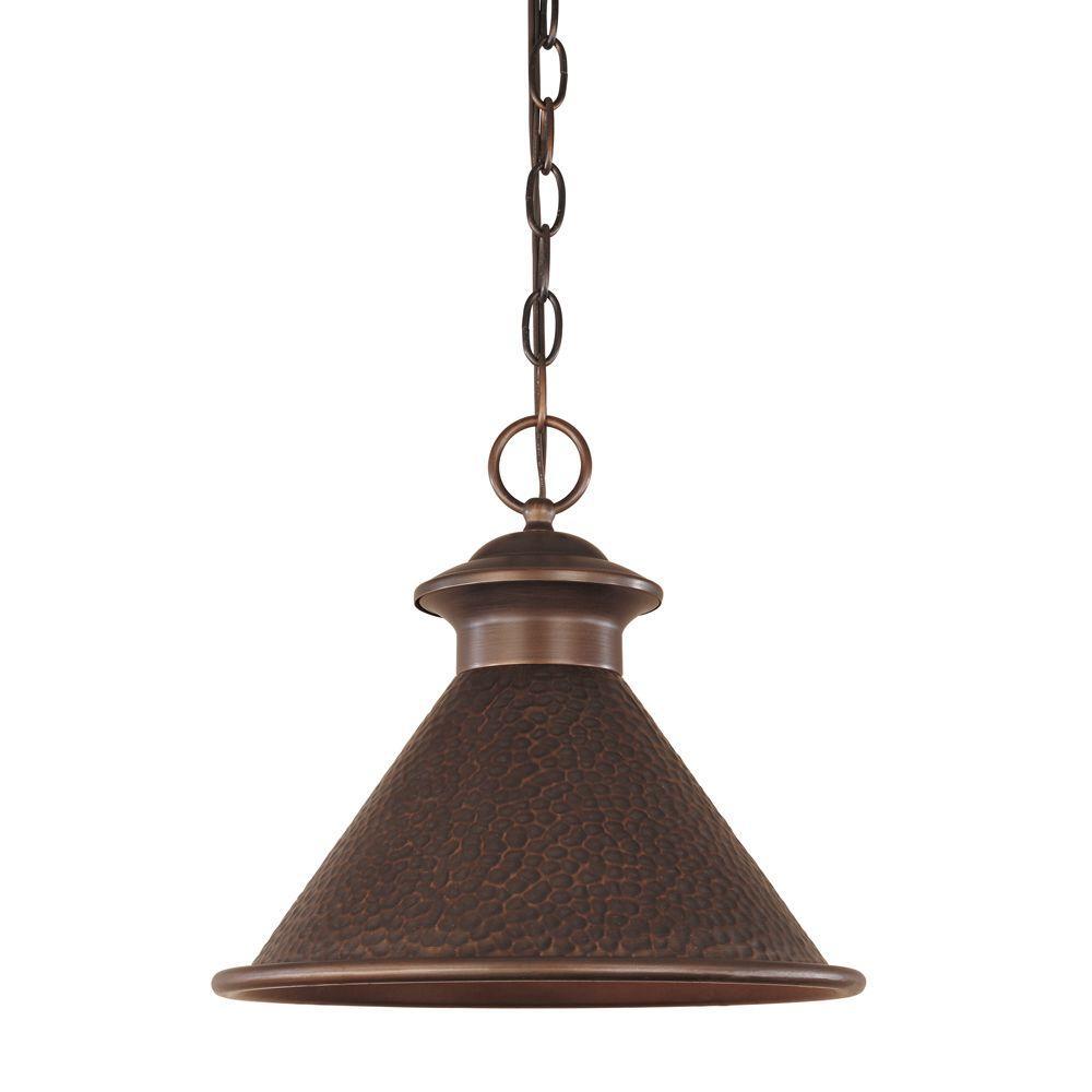 World Imports Dark Sky Essen Collection 1-Light Antique Copper Indoor/Outdoor Hanging Light