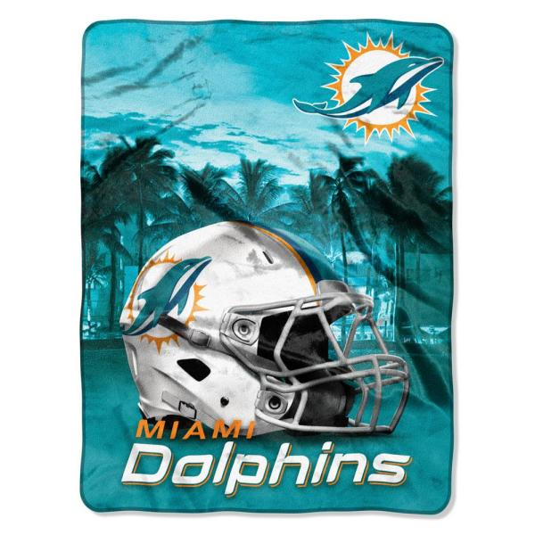 492424bd Dolphins Heritage Silk Touch Throw