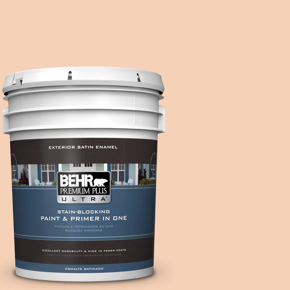 BEHR Premium Plus Ultra 5-gal. #280C-2 Serene Peach Satin Enamel Exterior Paint